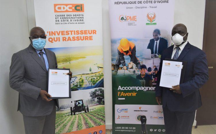 L'Agence Côte d'Ivoire PME et la Caisse des Dépôts et Consignations de Côte d'Ivoire unissent…