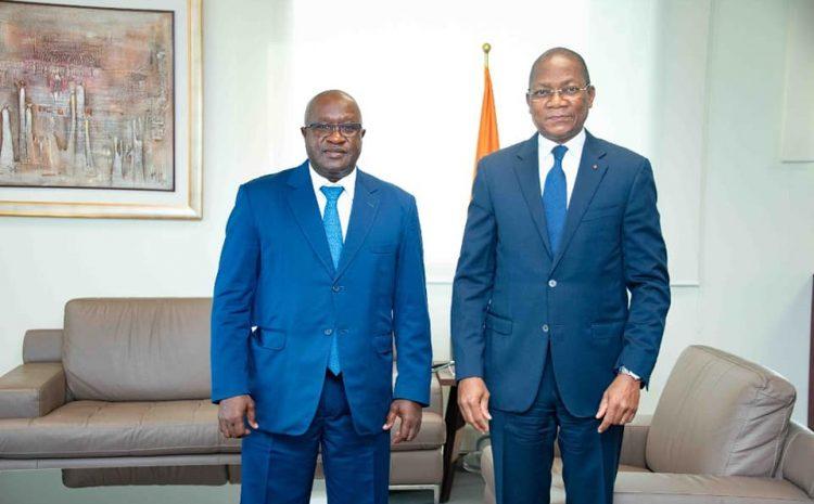 Rencontre  avec le Ministre de la Construction du Logement et de l'Urbanisme M. Bruno N. Koné